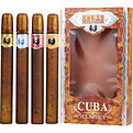 Cuba Variety 4 Piece Variety With Cuba Gold, Blue, Red & Orange & All Are Edt Spray 1.17 oz for men by Cuba