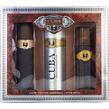Cuba Gold Edt Spray 3.3 oz & Aftershave Spray 3.3 oz & Body Spray 6.8 oz for men by Cuba