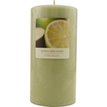 Lime Basil Essential Blend One 3x6 Inch Pillar Essential Blends Candle.  Burns Approx. 120 Hrs. for unisex by Lime Basil Essential Blend