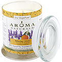 Relaxing Aromatherapy One 3.7x4.5 Inch Medium Glass Pillar Soy Aromatherapy Candle.  Combines The Essential Oils Of Lavender And Tangerine To Create A Fragrance That Reduces Stress.  Burns Approx. 60 Hrs for unisex by Relaxing Aromatherapy