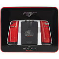 Mustang Sport Black Eau De Toilette Spray 3.4 oz & Aftershave Balm 5 oz & Shower Gel 5 oz for men