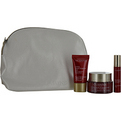 Clarins Set-Super Restorative Luxery Collection Set: Day Cream 1.7oz + Night Wear .53oz + Serum .35oz --3pcs+1bag - W for women by Clarins