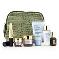 Estee Lauder Travel Set: Perfectly Clean 30ml + Micro Essence 30ml + Resilience Lift Creme 15ml + Eye Cream 5ml + Anr Ii 7ml + Lip Conditioner + Bag --6pcs+1bag for women by Estee Lauder