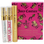 Juicy Couture Variety 3 Piece Womens Mini Variety With Juicy Couture & Viva La Juicy & Peace Love & Juicy Couture And Empty Holder And All Are Eau De Parfum Spray .25 oz Minis for women